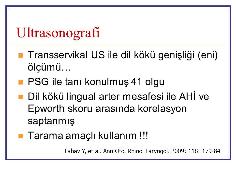 Ultrasonografi Transservikal US ile dil kökü genişliği (eni) ölçümü…