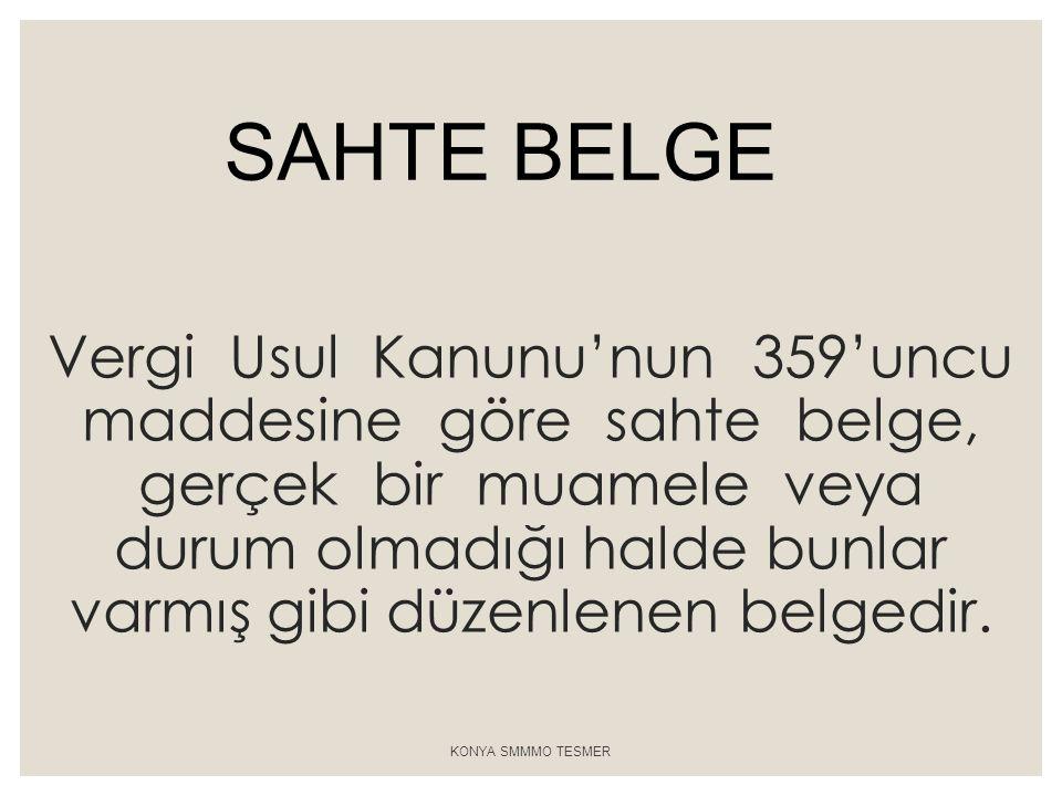SAHTE BELGE