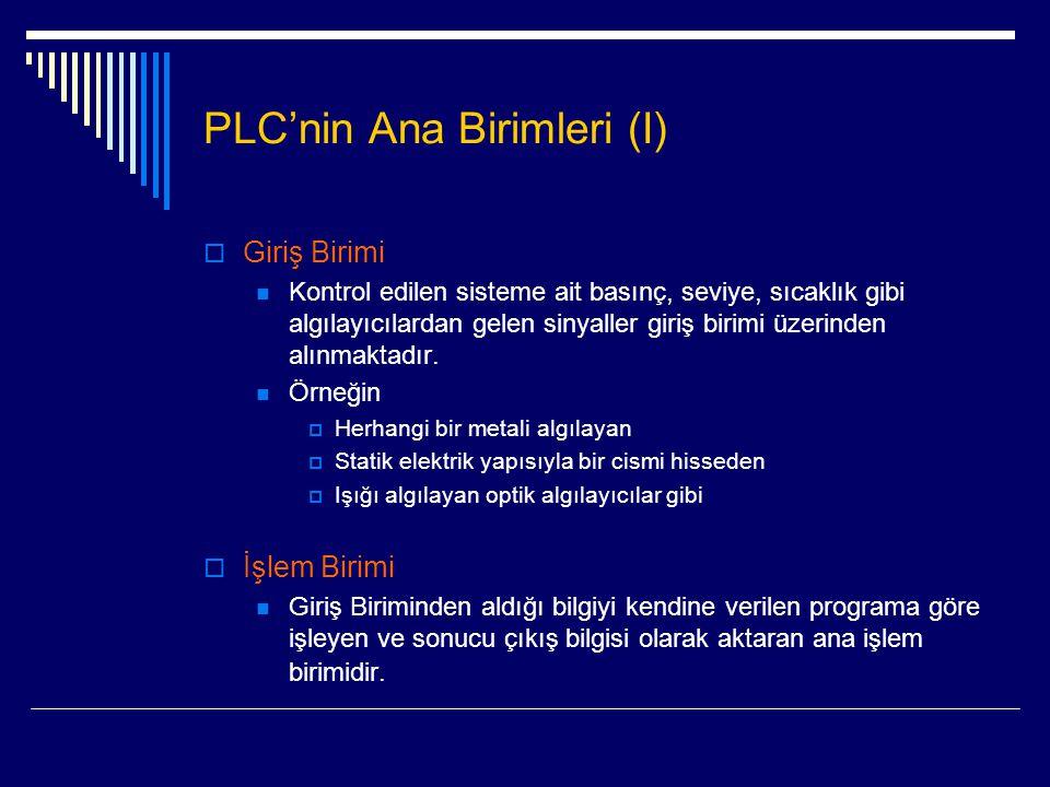 PLC'nin Ana Birimleri (I)