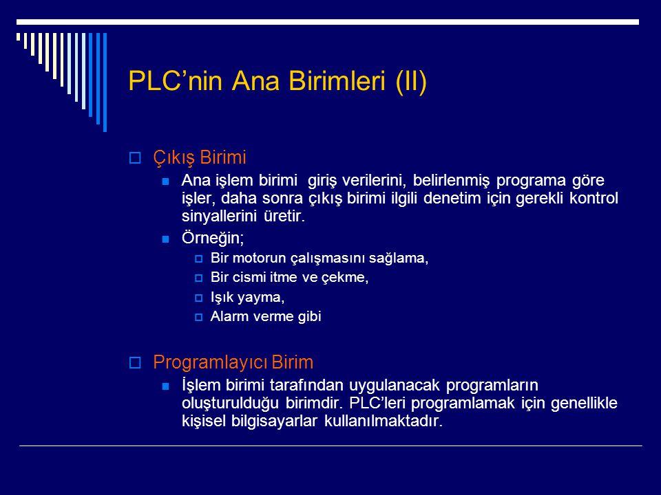 PLC'nin Ana Birimleri (II)