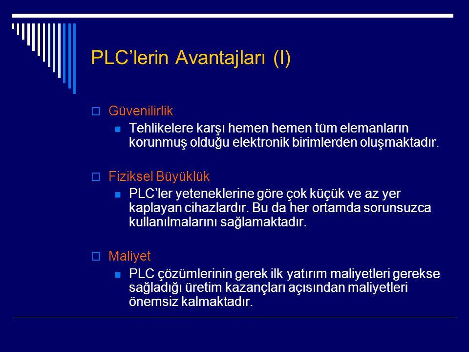 PLC'lerin Avantajları (I)