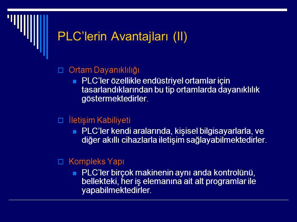 PLC'lerin Avantajları (II)