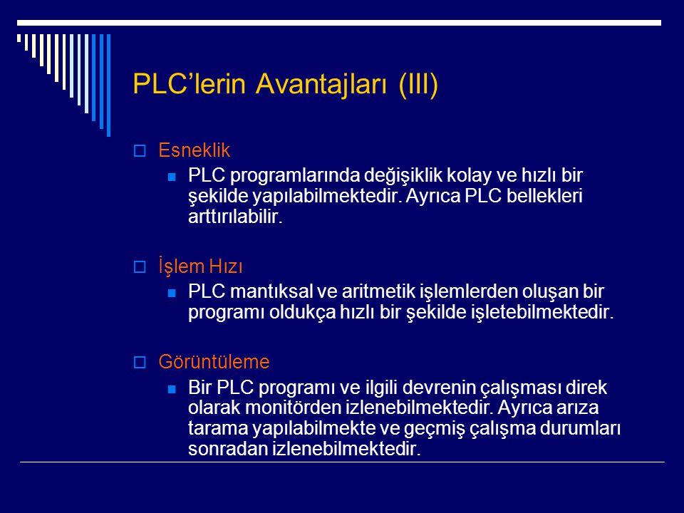 PLC'lerin Avantajları (III)