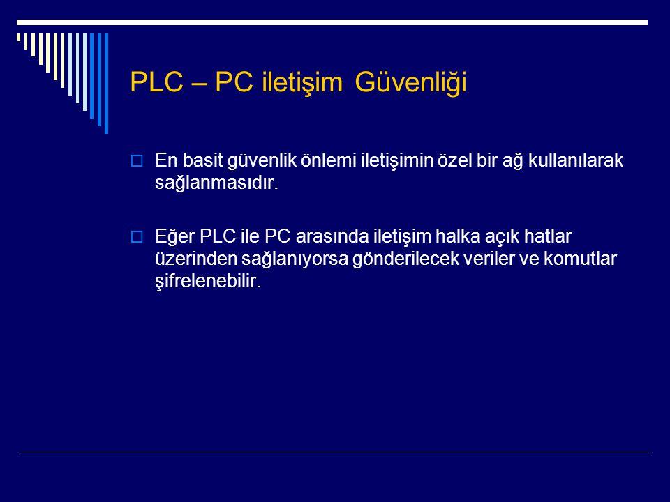 PLC – PC iletişim Güvenliği
