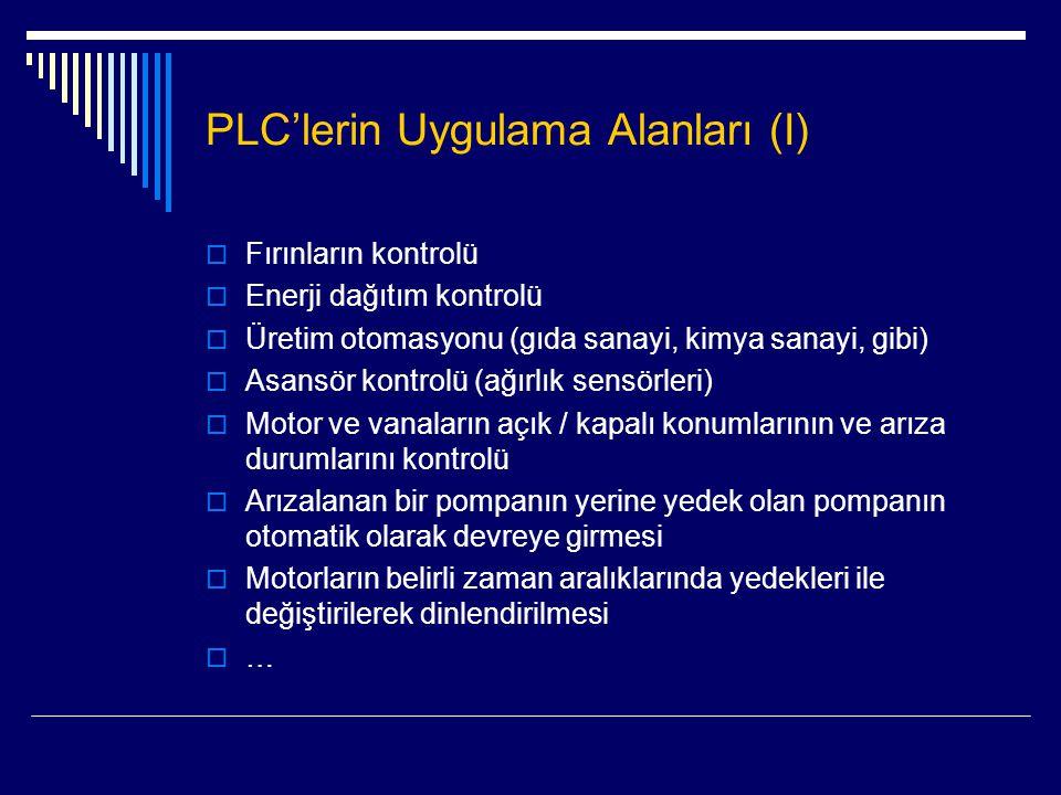 PLC'lerin Uygulama Alanları (I)