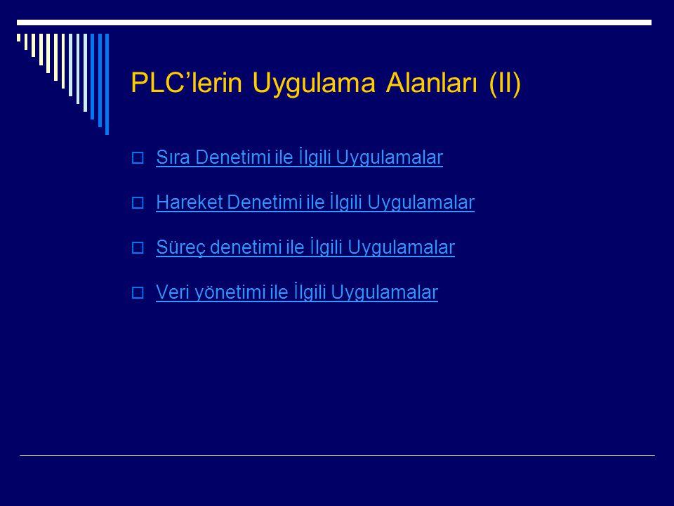 PLC'lerin Uygulama Alanları (II)