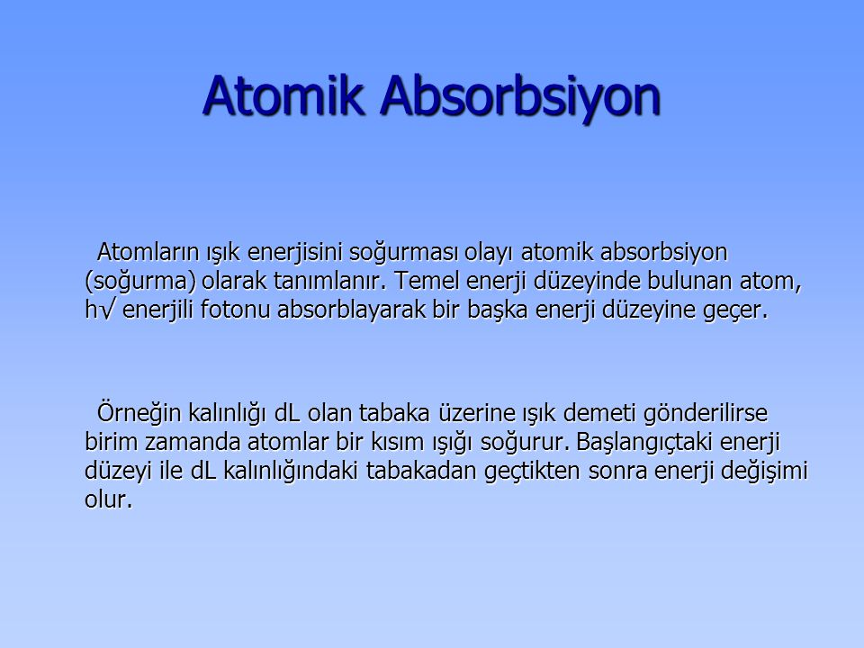 Atomik Absorbsiyon