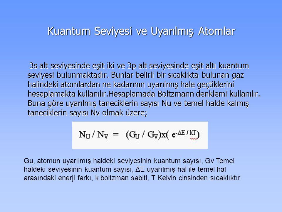 Kuantum Seviyesi ve Uyarılmış Atomlar