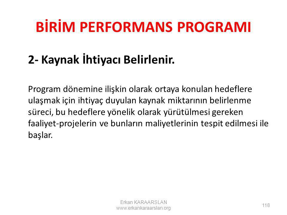 BİRİM PERFORMANS PROGRAMI