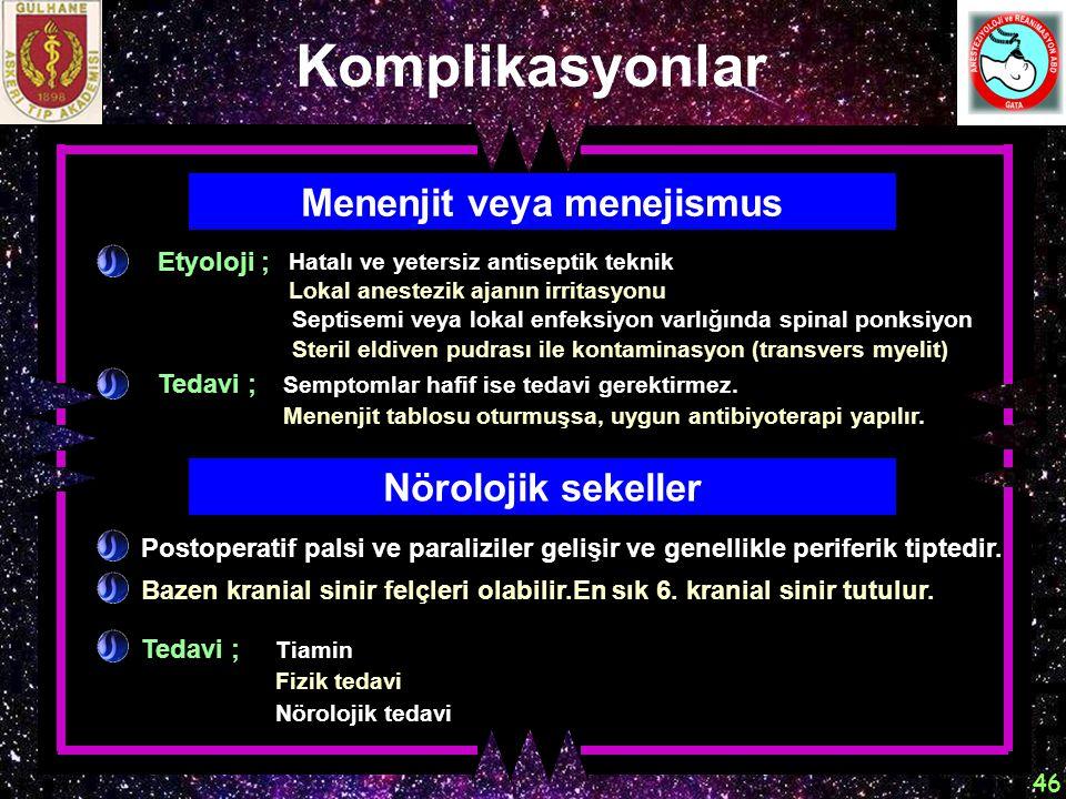 Menenjit veya menejismus