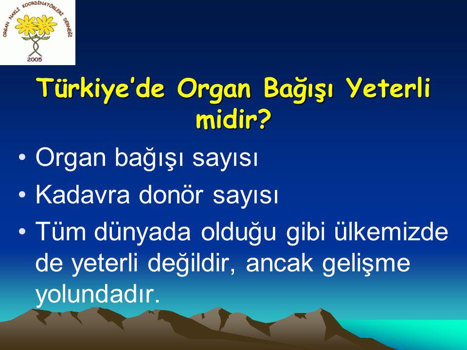 Türkiye'de Organ Bağışı Yeterli midir