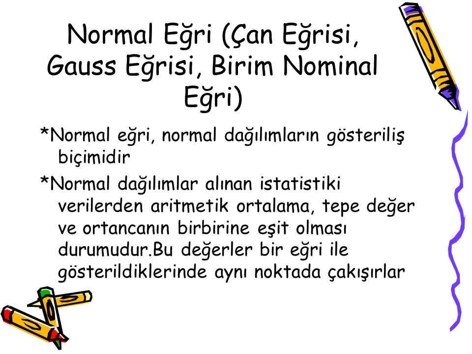 Normal Eğri (Çan Eğrisi, Gauss Eğrisi, Birim Nominal Eğri)
