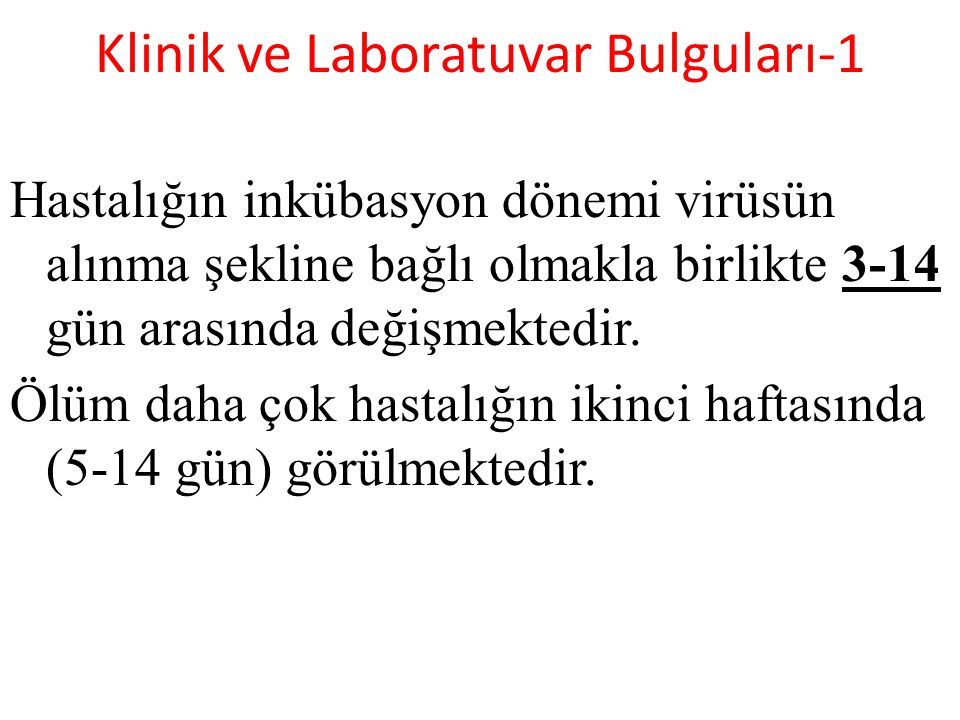Klinik ve Laboratuvar Bulguları-1