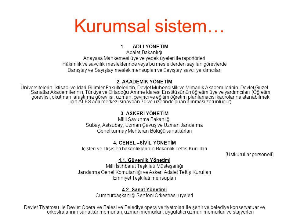 Kurumsal sistem… ADLİ YÖNETİM Adalet Bakanlığı