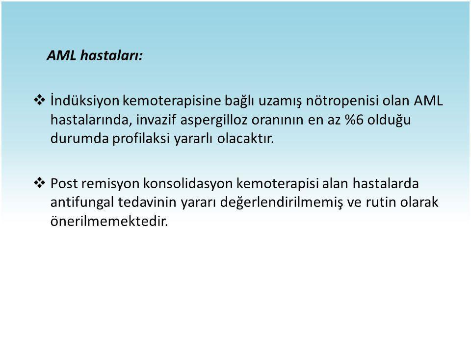 AML hastaları: