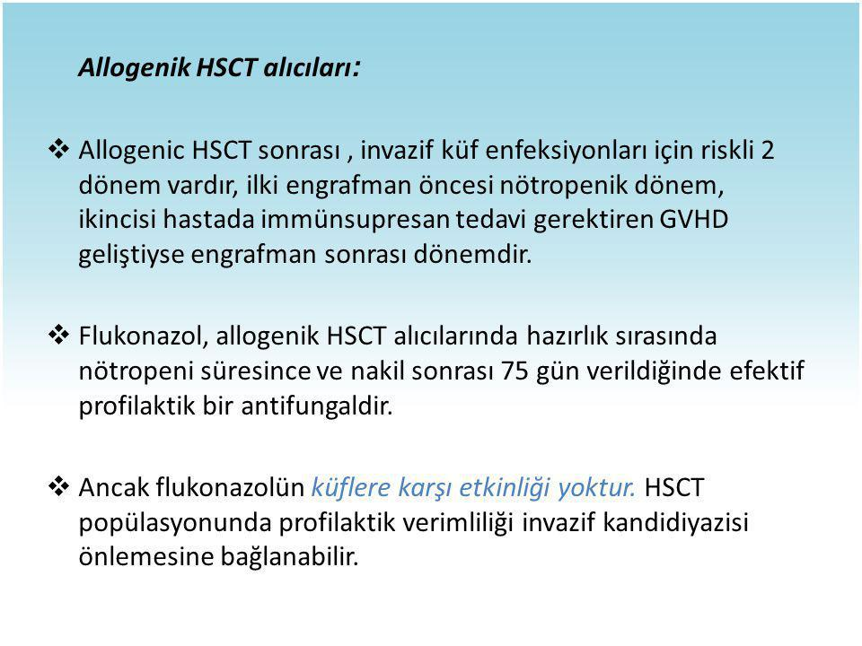 Allogenik HSCT alıcıları: