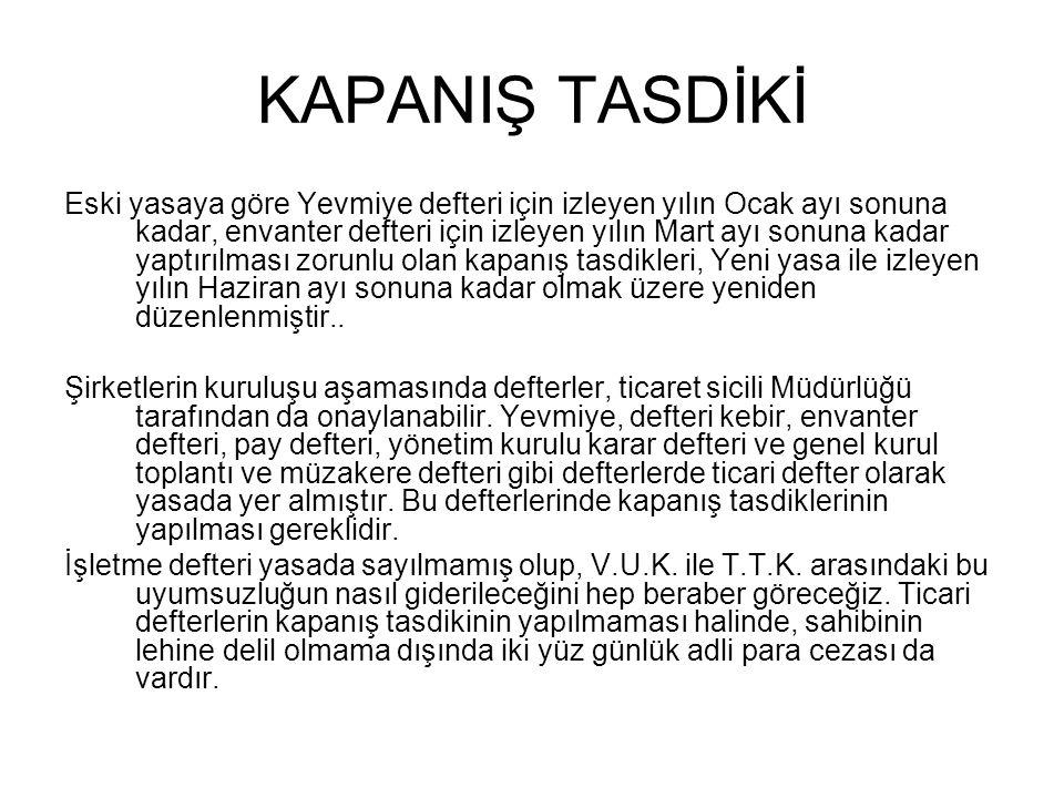 KAPANIŞ TASDİKİ