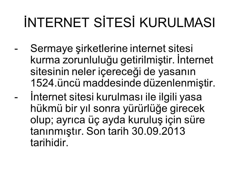 İNTERNET SİTESİ KURULMASI