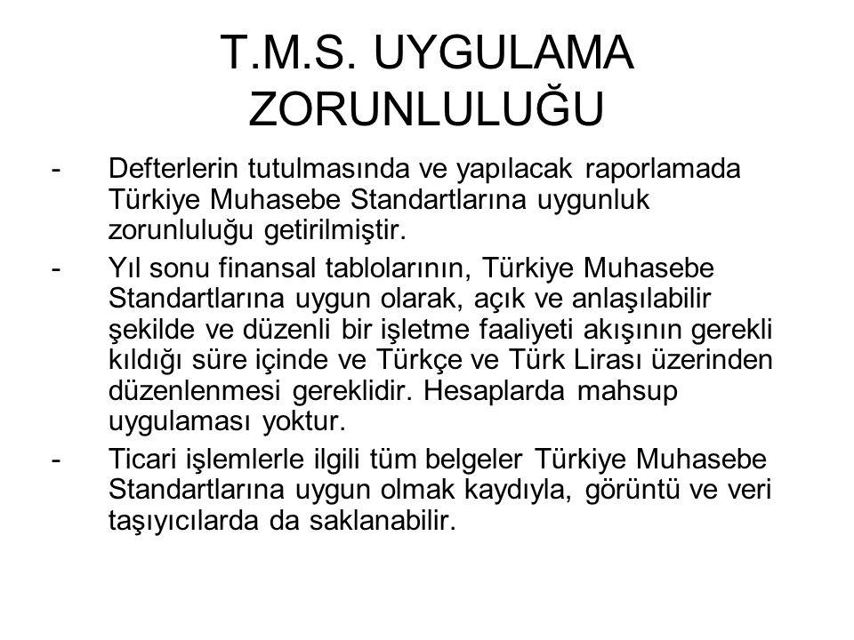 T.M.S. UYGULAMA ZORUNLULUĞU