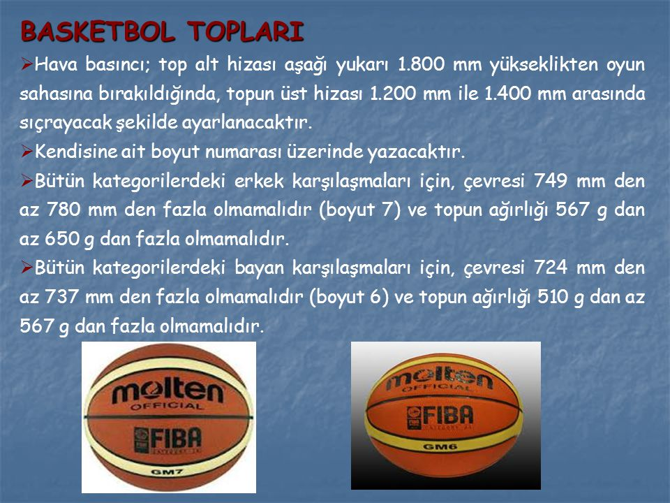 BASKETBOL TOPLARI