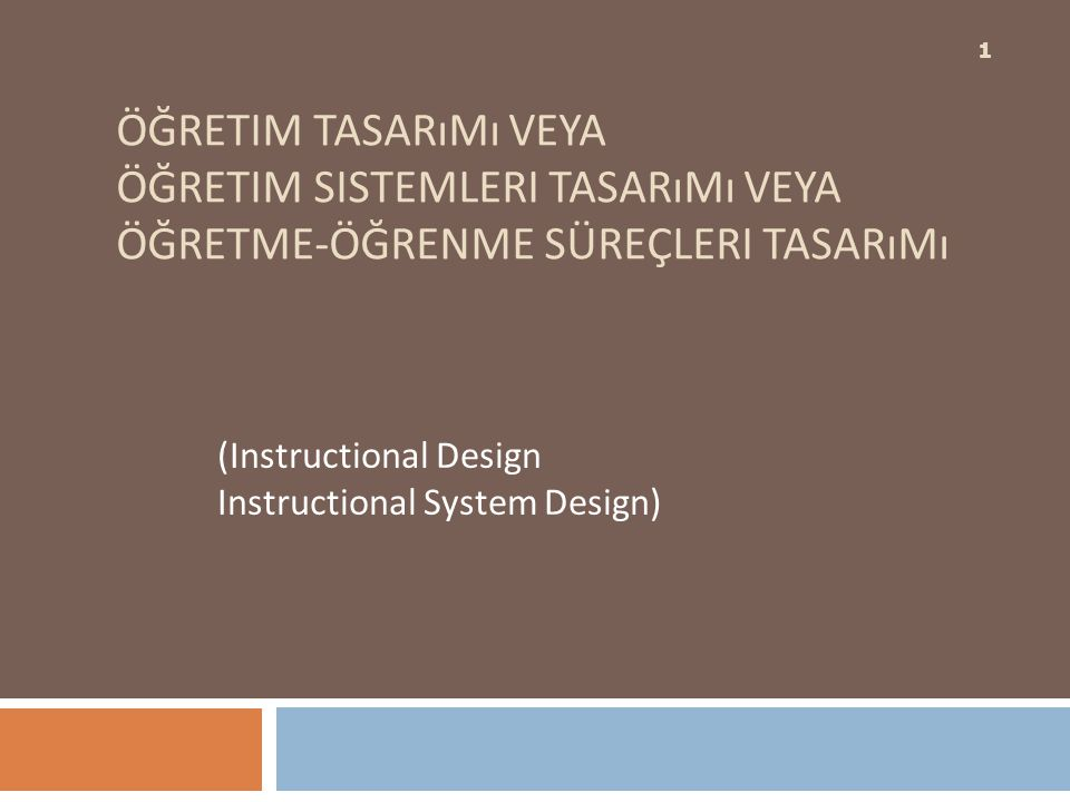 (Instructional Design Instructional System Design)