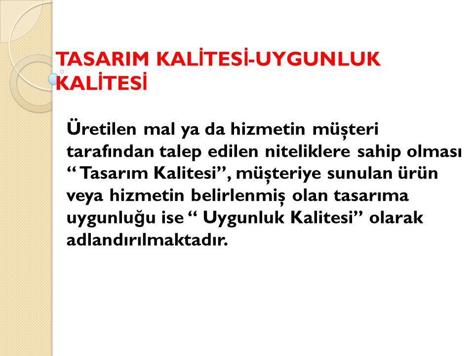 TASARIM KALİTESİ-UYGUNLUK KALİTESİ