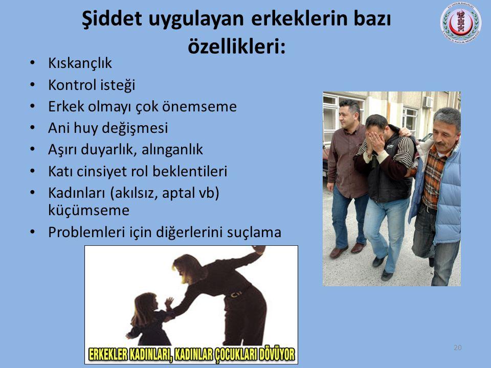 Şiddet uygulayan erkeklerin bazı özellikleri: