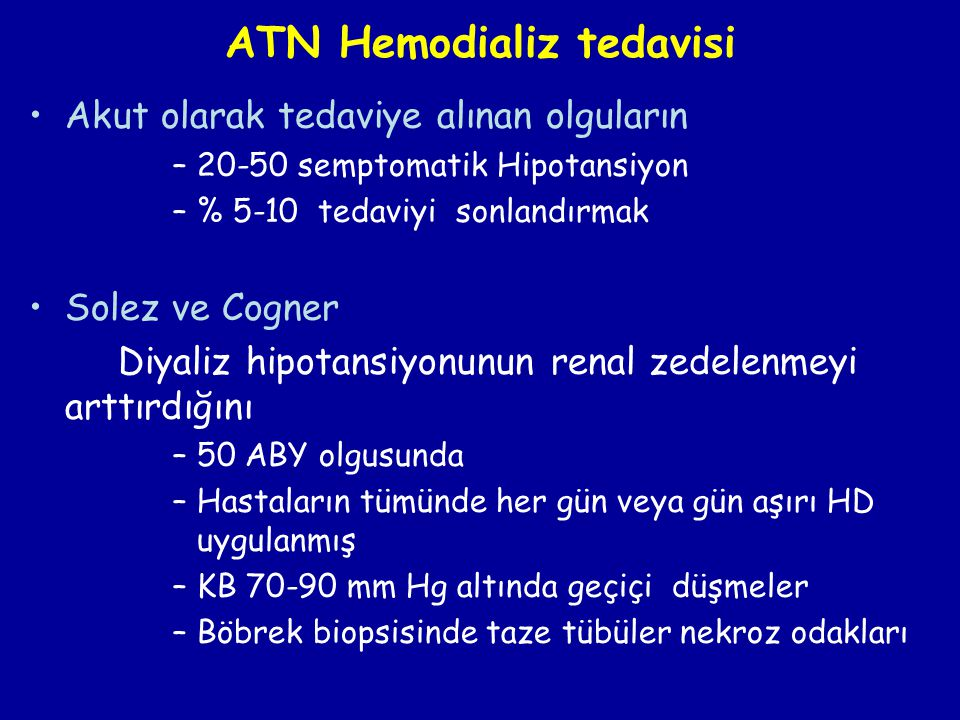 ATN Hemodializ tedavisi