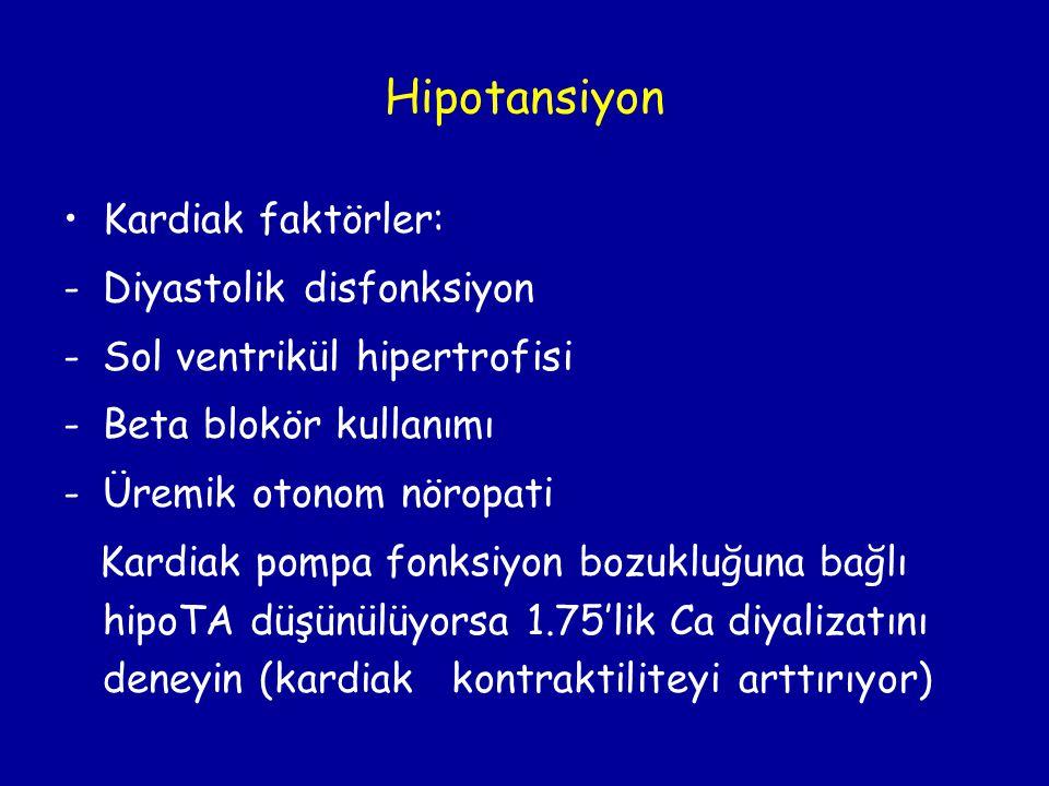 Hipotansiyon Kardiak faktörler: Diyastolik disfonksiyon