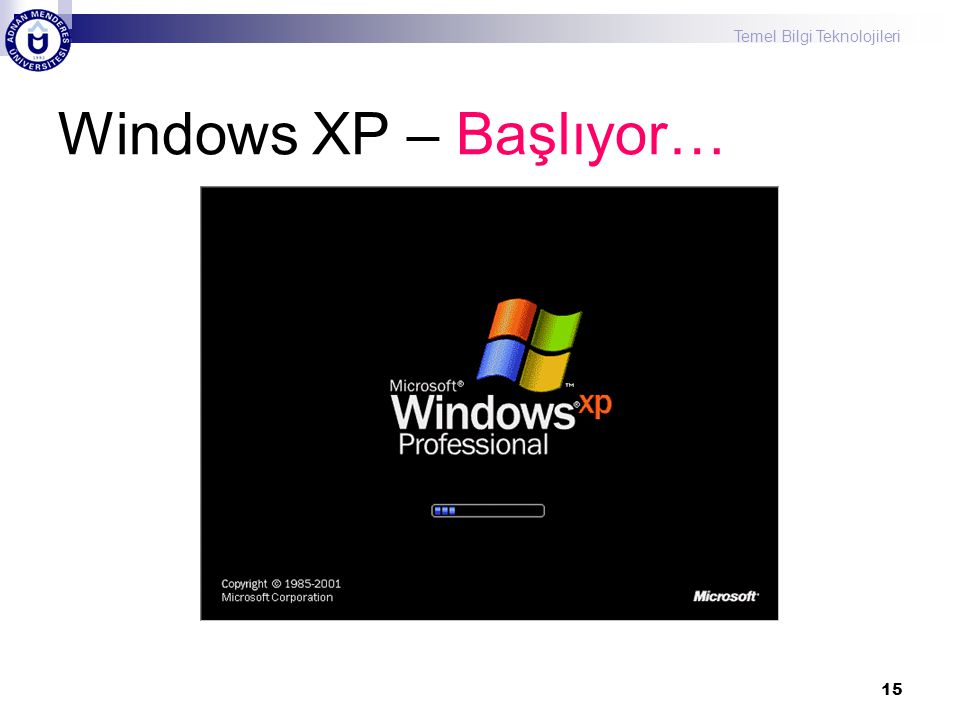 Windows XP – Başlıyor…
