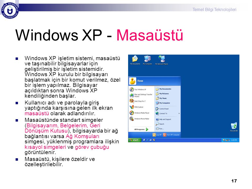 Windows XP - Masaüstü