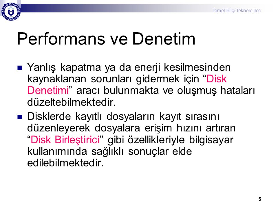 Performans ve Denetim