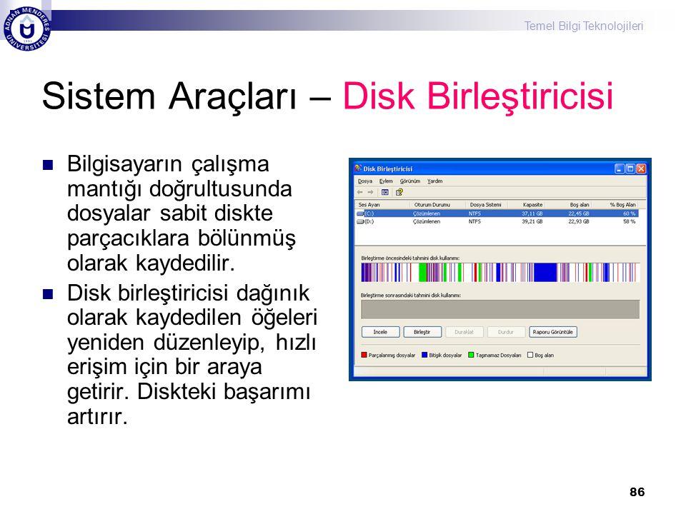Sistem Araçları – Disk Birleştiricisi