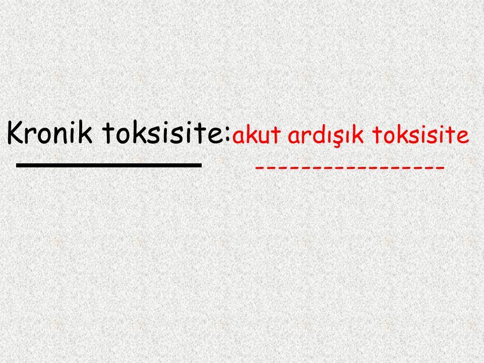 Kronik toksisite:akut ardışık toksisite -----------------