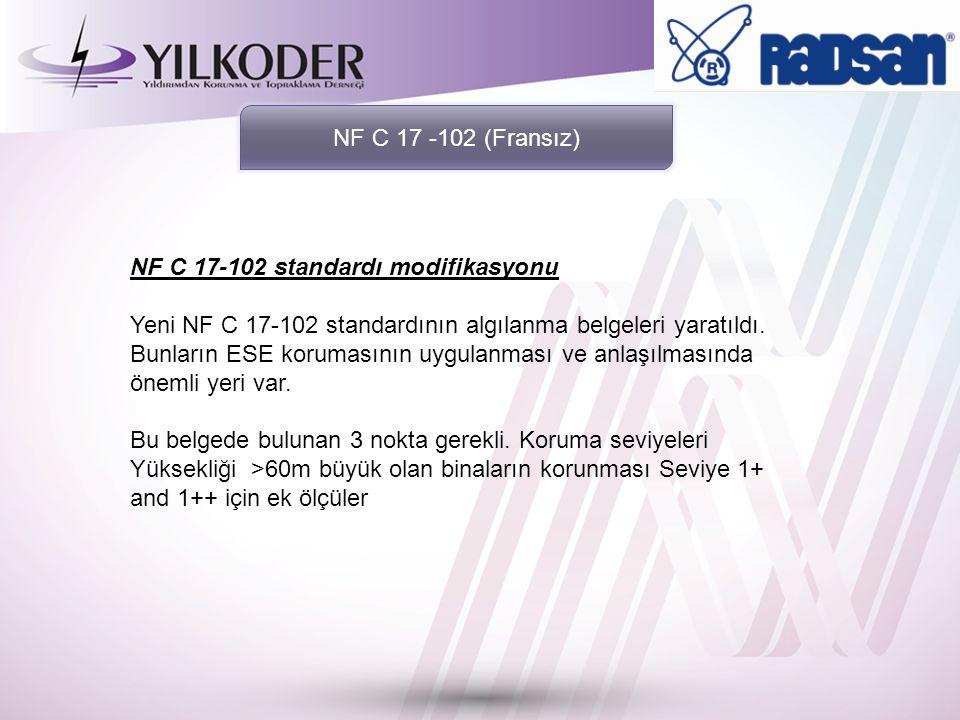 NF C 17-102 standardı modifikasyonu