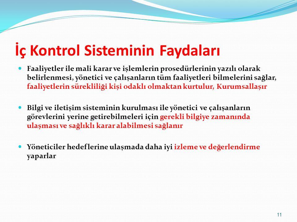 İç Kontrol Sisteminin Faydaları