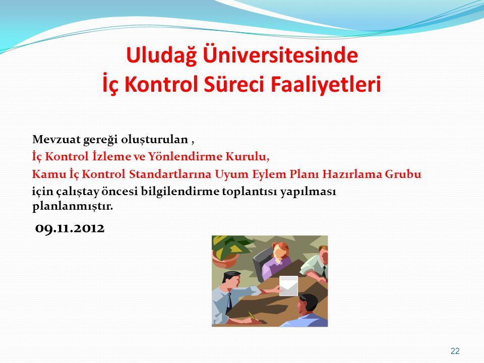 Uludağ Üniversitesinde İç Kontrol Süreci Faaliyetleri