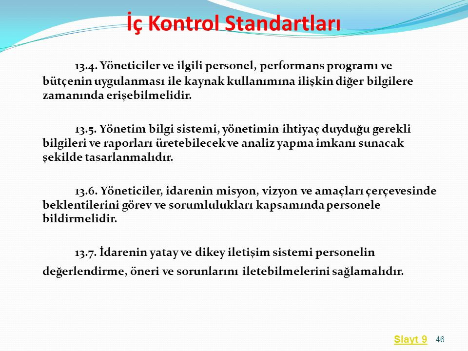 İç Kontrol Standartları