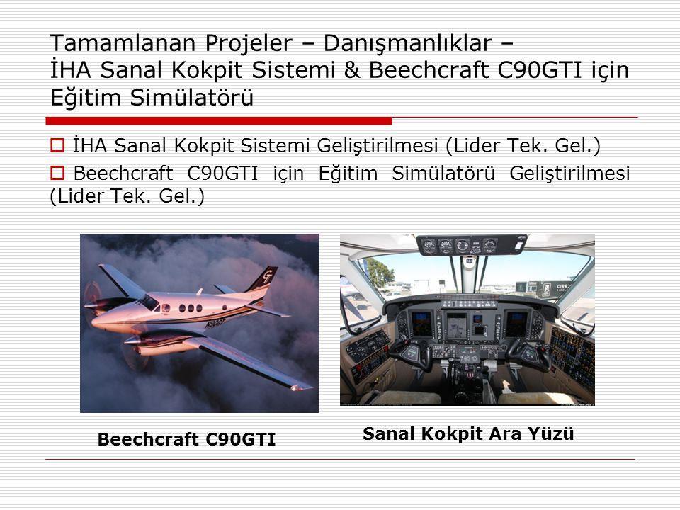 Tamamlanan Projeler – Danışmanlıklar – İHA Sanal Kokpit Sistemi & Beechcraft C90GTI için Eğitim Simülatörü