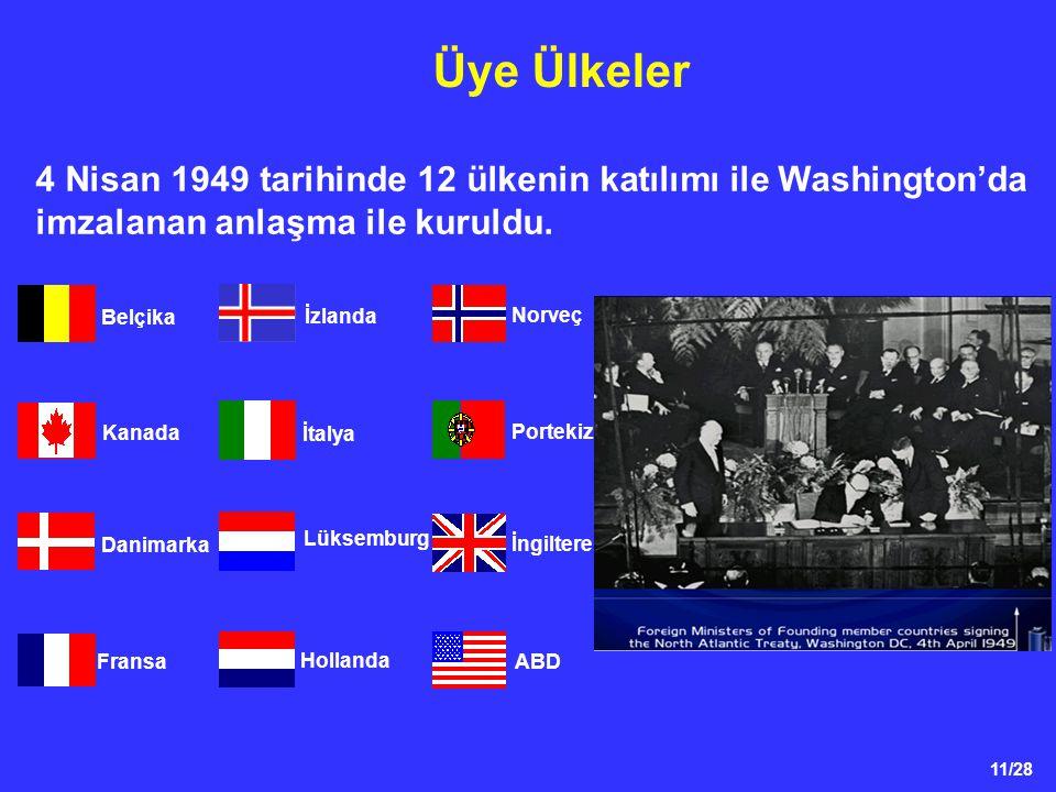 Üye Ülkeler 4 Nisan 1949 tarihinde 12 ülkenin katılımı ile Washington'da imzalanan anlaşma ile kuruldu.