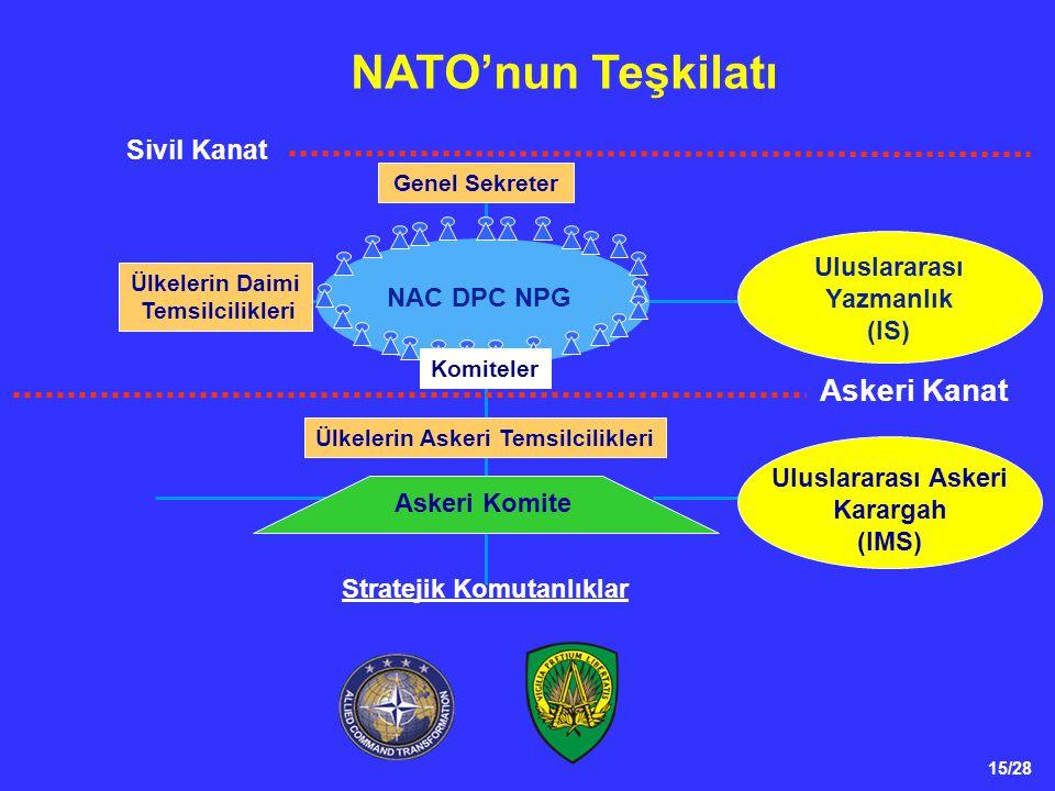 NATO'nun Teşkilatı Askeri Kanat Sivil Kanat Uluslararası Yazmanlık