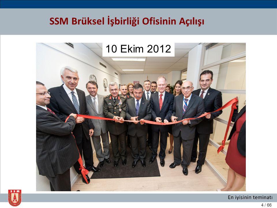 SSM Brüksel İşbirliği Ofisinin Açılışı