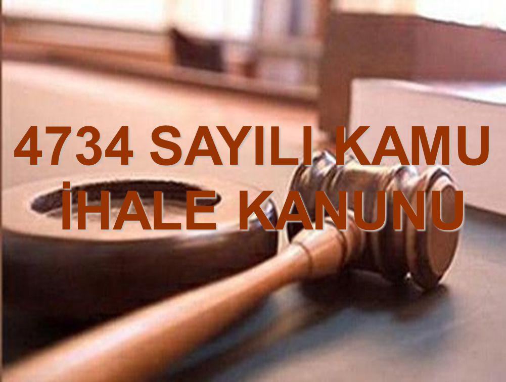 4734 SAYILI KAMU İHALE KANUNU