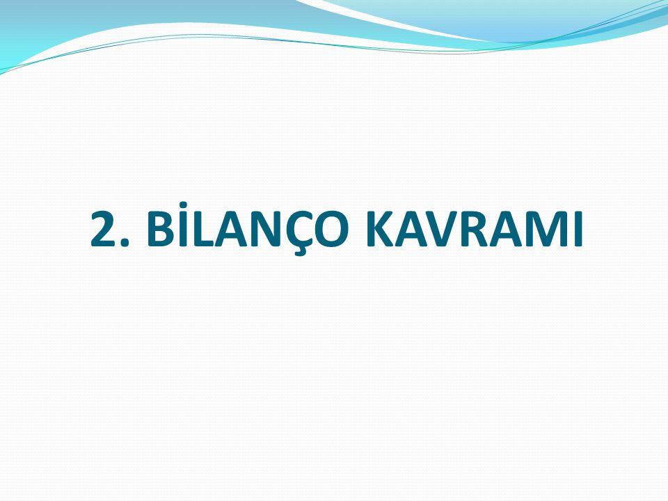 2. BİLANÇO KAVRAMI
