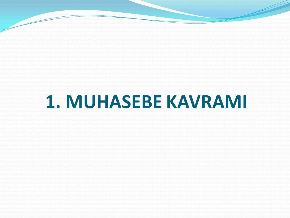 1. MUHASEBE KAVRAMI