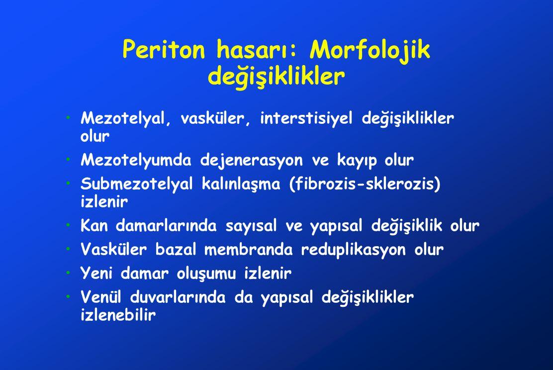 Periton hasarı: Morfolojik değişiklikler