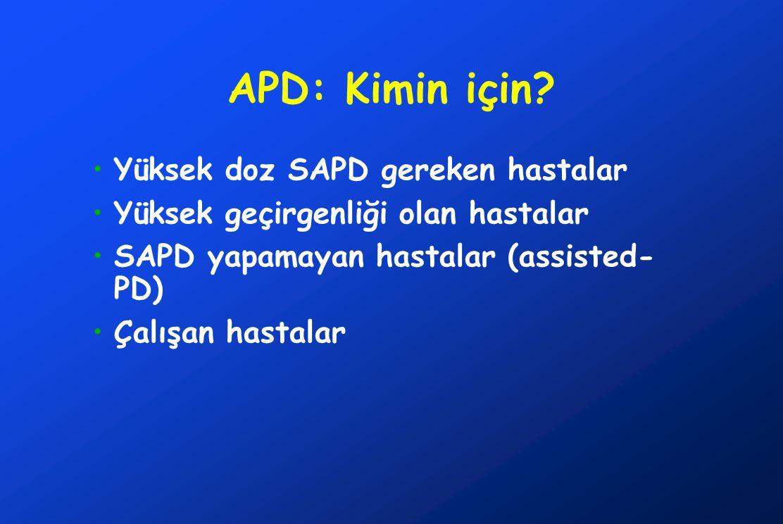 APD: Kimin için Yüksek doz SAPD gereken hastalar