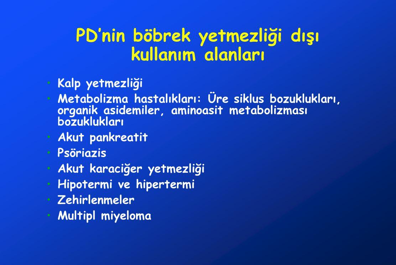 PD'nin böbrek yetmezliği dışı kullanım alanları