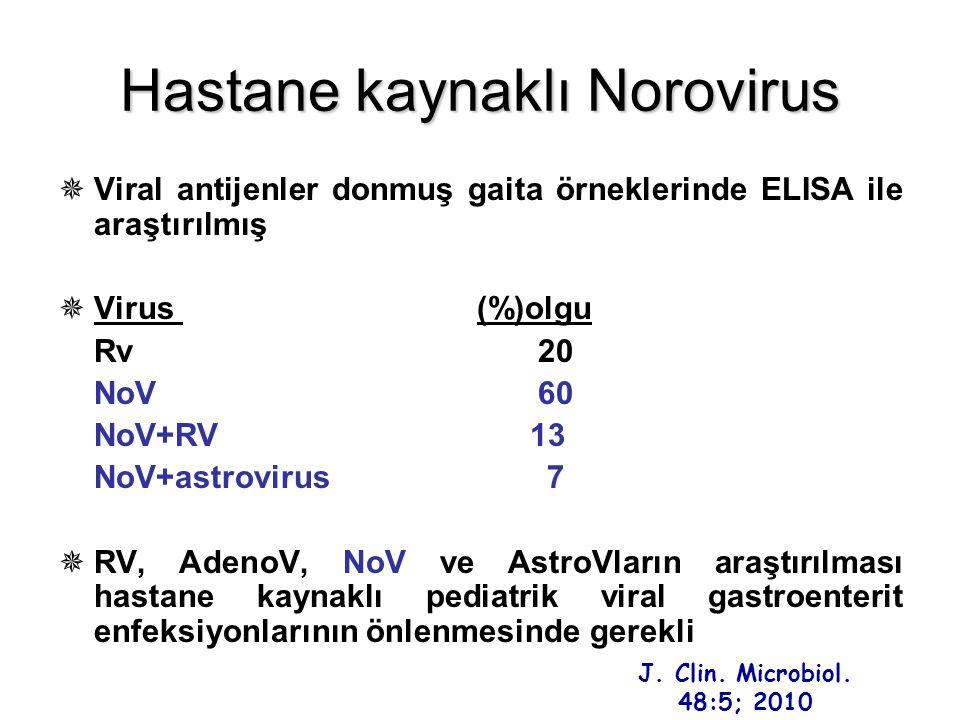 Hastane kaynaklı Norovirus
