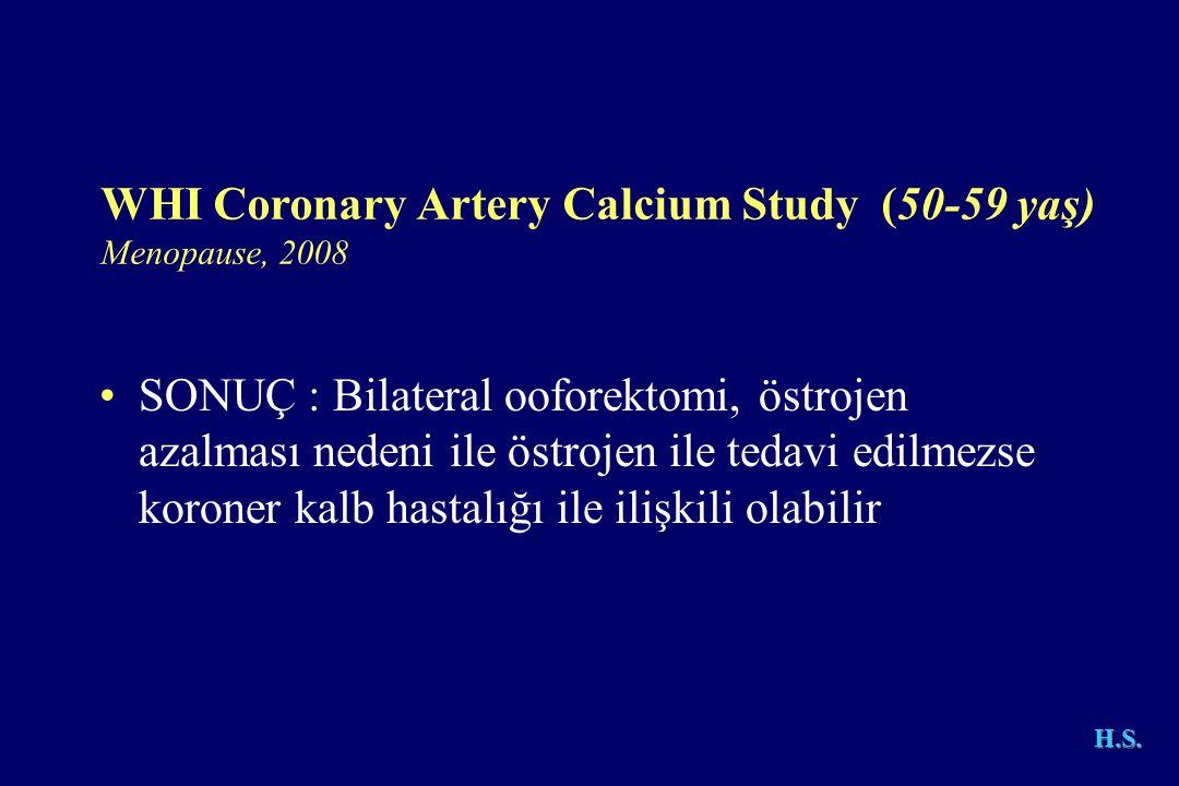 WHI Coronary Artery Calcium Study (50-59 yaş)